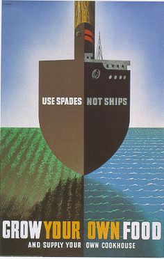 Use spades, not ships... Grow your own food and supply your own cookhouse