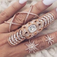 jewels gold diamonds jewlry ring nails accessories jewelry knuckle ring rings and tings gold ring