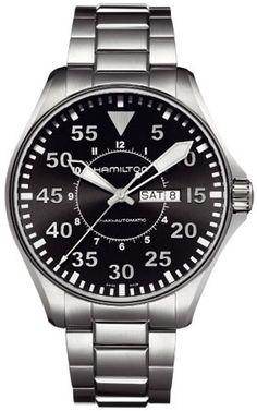 H64715135, H64715135, Hamilton khaki pilot automatic watch, mens