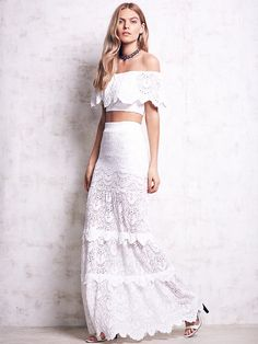 Nightcap Spanish Lace Set at Free People Clothing Boutique Lace Maxi, Lace Skirt, Lace Dress, Lace Gowns, Boho Dress, Spanish Dress, Spanish Style, Grunge, Bridal Separates
