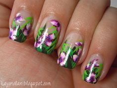 Neues vom Kellerkind: The Nail Challenge Collaborative - Flowers - Week 3 - Tropical
