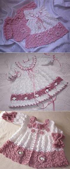 GÜVEN BEBE: Kız Bebek Örgü Elbise Modelleri