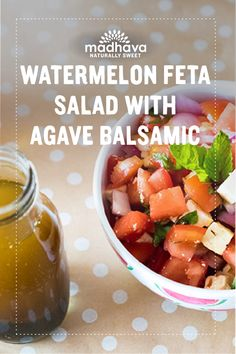 Watermelon Feta Salad with Agave Balsamic | Madhava