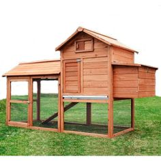 Found it at Wayfair - Large Pawhut Chicken Coop with Hinged Roof and Nesting Box
