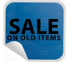 Sale On Old Items Discount Sticker In Blue Square Folded Corner #buy #cart #clearance #commerce #event #PDF #purchase #shopping #special #store #transaction #vector-graphics #vectors #vectortoons #vectortoons.com