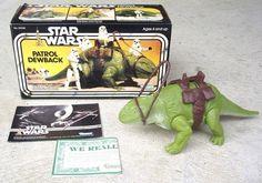 Vintage 1977 Kenner STAR WARS Toy Lizard PATROL DEWBACK w/ ORIGINAL BOX #39240