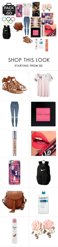 """""""Going gold"""" by look-in-the-clouds ❤ liked on Polyvore featuring Valentino, Joules, River Island, Bobbi Brown Cosmetics, Urban Decay, Fiebiger, Casetify, NIKE, Chloé and Lubriderm"""