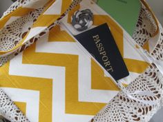 Mini Travel Hipster Passport Bag with by Antiquebasketlady on Etsy, $28.50 #Giftforher #Bridal #bridesmaidgift