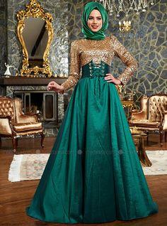 Canan Evening Dress - Emerald - Mevra