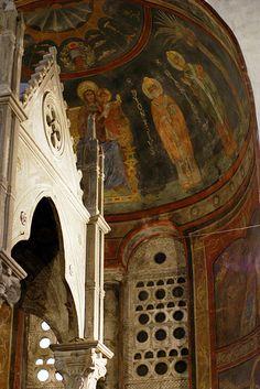 Rom, Piazza Bocca della Verità, Santa Maria in Cosmedin, Ziborium und Apsis (ciborium and apse)
