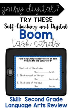 Are you 1:1? Are you looking for a fun way to practice reviewing language arts skills in your classroom? This deck contains 20 cards that are End of the Year review for second grade. All of these skills are standards based. After second grade or at the beginning of third grade, students should be able to answer Flipped Classroom, Classroom Ideas, Google Classroom, Motivational Activities, Reading Skills, Guided Reading, Common And Proper Nouns, Behavior Plans, Math Challenge