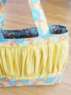 blue + orange floral tote/diaper bag by Gussy Sews
