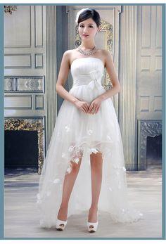 Train princess wedding bride dress
