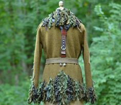 Steampunk boho military style SWEATER JACKET with door amberstudios