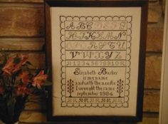 ELIZABETH'S SAMPLER Counted Cross Stitch by CraftyCrossStitches, $4.00