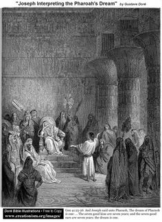 Joseph Interpreting Pharaoh's Dream by Gustave Dore