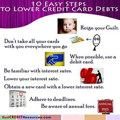 There are many ways to lower credit card debts and reign in your out-of-control finances. Get started Now!