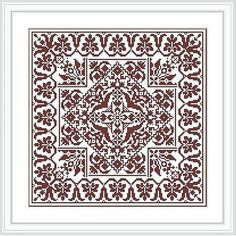 Pattern cross-stitch classic - Two antique squares - one color embroidery The chart is based on a magazine schemes. Individual element of this chart are selected from old magazines, the composition of ornaments is unique. Stitched area: 157w X 157h Stitches Size, 14 Count: 28.48w X 28.48h cm Stitches used: X-stitch Number of colors: 1 ONLY PATTERN. The Pattern is available as a PDF file. This PDF file will be sent to your Etsy email address within 1 business day. This PDF-file pattern Inc...