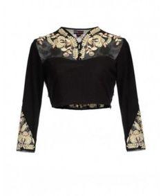 Kmozi New Arrival Black designer Blouse Material..  http://www.kmozi.com/designer-blouse/designer-saree-blouse/kmozi-new-arrival-black-designer-blouse-material-410