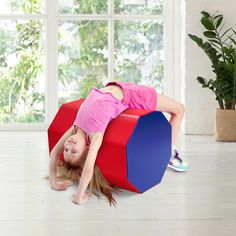 This new octagon gymnastic mat is ideal for skill development and coordination training when learning dive rolls, walkovers, handsprings, etc, especially for preschool kids. It features heavy-duty cover and comfortable foam stuffed inside. The zip-closed design provides convenience for the cleanup of the cover. The construction is durable and sturdy so that you could use it for a long time. With this beautiful appearance, your exercise will be more interesting. Gymnastics Mats, Perfect Body, More Fun, Bean Bag Chair, Preschool, Rolls, Construction, Kids Rugs, Training
