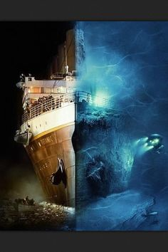 The Titanic was a British passenger liner that sank on April 1912 after colliding with an iceberg. Over people died in the sinking and it was the largest ship afloat at the time. In the wreckage of the Titanic was discovered. Rms Titanic, Film Titanic, Titanic Wreck, Titanic Art, Titanic Today, Titanic Photos, Titanic Sinking, Titanic Funny, Top Photos