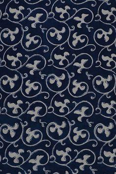 Indigo Prints, Textile Prints, Textile Art, Dabu Print, Flower Circle, Blue Block, Fabric Online, Light Beige, Surface Design