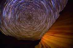 """Wavelight"" is a beautiful time-lapse video of star trails set against the Wave sandstone formation in Arizona taken by Gavin Heffernan and Harun Mehmedinovic. The video was produced through a part..."