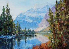 'Mount Edith Cavell' x Oil on Panel by Mountain Galleries artist Jean Geddes Canadian Painters, Canadian Artists, Landscape Paintings, Oil Paintings, Acrylic Paintings, Landscapes, Oil Painting Tips, Magic Realism, Hobbies And Crafts