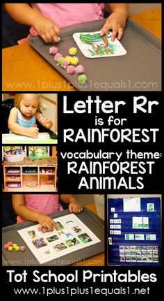 Tot School Printables Letter R is for Rainforest {free} from @{1plus1plus1} Carisa #totschool