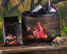 www.bstpierrestudio.com  Beautiful leather products featuring photography from our sessions.  Large multi-compartment tote (big enough for laptop with two add'l roomy compartments!), Wrist pouch to hold cellphone, $$ and credit cards, and Ipad sleeve.... perfectly wonderful!