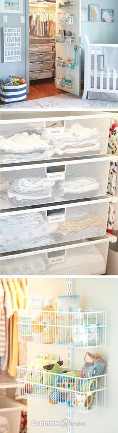 Nursery Storage Ideas Organizing for baby Max with elfa!Organizing for baby Max with elfa! Get The Look: Baby Nursery Closet Hi Sugarplum Baby Nursery Closet, Baby Bedroom, Baby Boy Rooms, Baby Boy Nurseries, Nursery Room, Nursery Ideas, Girl Nursery, Bedroom Ideas, Themed Nursery