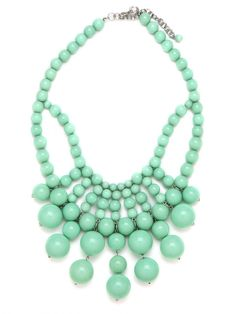 Spearmint Bauble Bib (which undoubtedly could dress up anything I wear this Spring)
