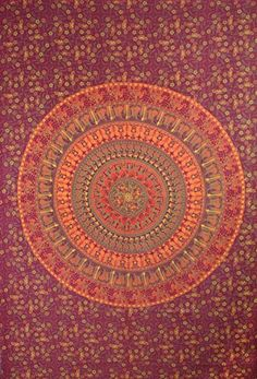 Elephant Mandala Tapestry, Wall hanging, table cloth, bad sheet. (Maharoon) Apoorva impex http://www.amazon.com/dp/B00N0ZEFHG/ref=cm_sw_r_pi_dp_Rb1rub0CDDK87