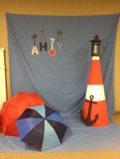 Nautical theme photo booth