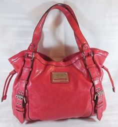 NICOLE-BY-NICOLE-MILLER-RED-MEDIUM-SHOULDER-HANDBAG-FREE-SHIPPING-GOOD-COND