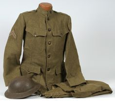 WWI U.S. Army Enlisted Man's Uniform with Dough Boy Helmet (2010, The World at War, June 22)
