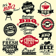 These are all examples of decorative typefaces because they are used for display purposes and BBQ logos, but wouldn't be used to write an entire paragraph, or even a sentence.