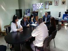 Julio Cabur, recibió al Circulo Medico Guillermo De la Barrera y Patricia Rojas…