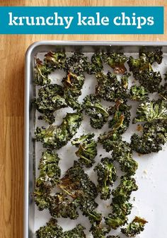 Krunchy Kale Chips -- Three ingredients--kale, olive oil and Parmesan cheese--are all you need to make this trendy, healthy living snack recipe.