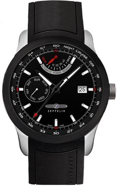 Zeppelin Watch Night Cruise #bezel-fixed #bracelet-strap-rubber #brand-zeppelin #case-material-steel #case-width-42mm #classic #date-yes #day-yes #delivery-timescale-call-us #dial-colour-black #gender-mens #movement-automatic #official-stockist-for-zeppelin-watches #packaging-zeppelin-watch-packaging #power-reserve-yes #style-dress #subcat-night-cruise #supplier-model-no-7262-2 #warranty-zeppelin-official-2-year-guarantee #water-resistant-100m