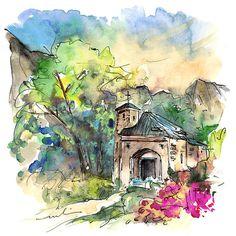 Cazorla. Miki De Goodaboom. watercolor and ink.