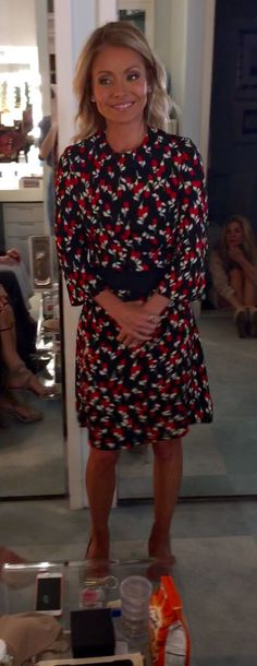Kelly Ripa in a Marni dress. Live with Kelly's Fashion Finder.