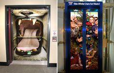Elevator ads!