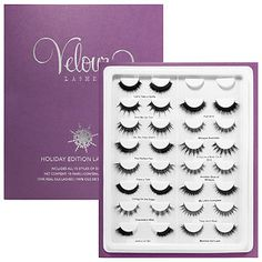 Shop Velour Silk Lashes' Holiday Edition Lash Book at Sephora. This Lash Book features 15 sets of long-lasting, luxe lashes for a number of looks. Velour Lashes, Silk Lashes, Fake Eyelashes, False Lashes, Gifts For Makeup Lovers, Hypoallergenic Makeup, Best Face Products, Beauty Products, Makeup Products