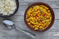 Quick chicken and chickpea curry. Chicken And Chickpea Curry, Batch Cooking, Chana Masala, Allrecipes, Healthy Life, Menu, Healthy Recipes, Vegetables, Ethnic Recipes