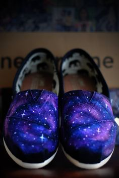 Galaxy TOMS by Sophiescustomshoes on Etsy, $85.00.  So pretty but too much moola for me