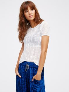 Bye Boy Baby Tee | Simple, totally lightweight sheer tee featuring tiny cutouts throughout.