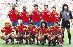 Imagen histórica de la Seleccion Colombia que enfrentó a Alemania Federal en Italia 90.   Cuantos 'me gusta' por esta Selección que nos hizo vibrar y soñar!!! www.ComuTricolor.com