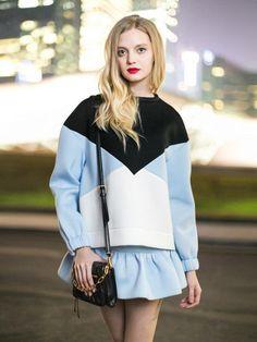New Look Visco-Elastic Contrast Color Sweatershirt - Choies.com