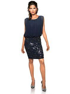 Stunning Ashley Brooke by heine Paillettenkleid Pailletten schwarz wei im heine Online Shop Jetzt g nstig bestellen auf heine de